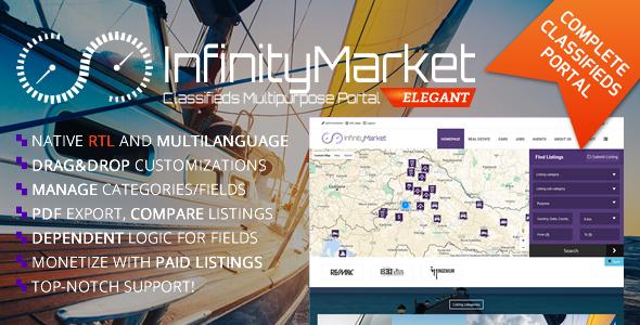 Classifieds Multipurpose Portal - Infinity Market